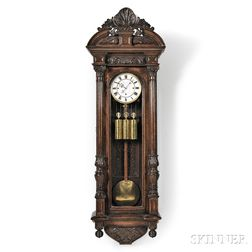 Carved Thirty-day Vienna Regulator Wall Clock