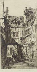 John Taylor Arms (American, 1887-1953)    Old Rouen