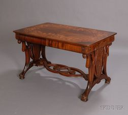 Art Nouveau Inlaid Writing Desk