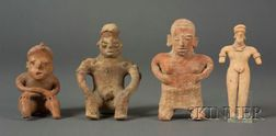 Four Pre-Columbian Pottery Figures