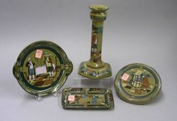Four Buffalo Pottery Deldare Ware Table Items