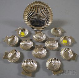 Thirteen Shell-form Sterling Silver Dishes