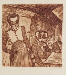 Conrad Felixmüller (German, 1897-1977)      Arbeiterpaar (Ehepaar Schnabel)