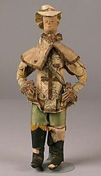 Early Cloth Doll in Fancy Male Attire
