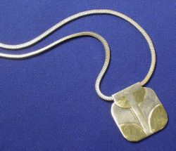 Sterling Silver and 14kt Gold Pendant Necklace