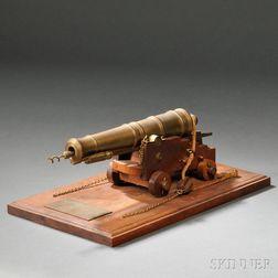 Brass Twenty-four pound Naval Deck Cannon Model