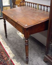 Late Victorian Oak Slant-lid Clerks Desk.