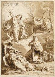 Attributed to Felice Giani (Italian, 1758-1823)      Virgin Interceding on Behalf of Plague Victims