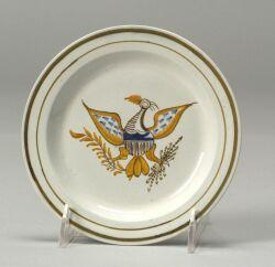 Polychrome Enamel Pearlware Eagle Plate