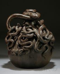 Anna Pottery Stoneware Centennial Snake Jug
