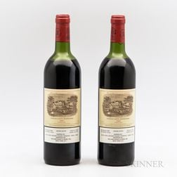 Chateau Lafite Rothschild 1982, 2 bottles
