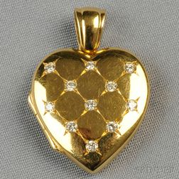 18kt Gold and Diamond Locket, Charles Green