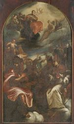 Italian School, 17th Century Style  Discourse Among the Saints