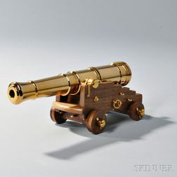 Replica 24-pound Naval Cannon Model