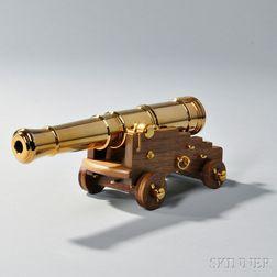Replica 24-pound Naval Cannon Model