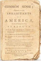 Paine, Thomas (1737-1809) Common Sense; Addressed to the Inhabitants of America.