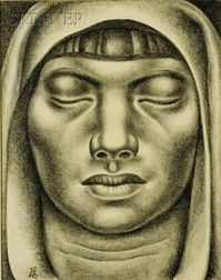 Luis Alberto Acuna (Colombian, b. 1904)    Female Head