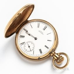 14kt Gold Waltham Hunter-case Pocket Watch