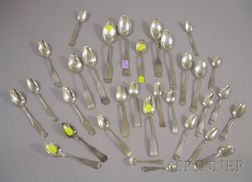 Thirty-two Coin Silver Spoons