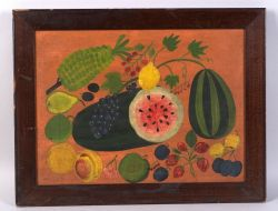 American School, Late 19th Century  Still Life with Fruit.