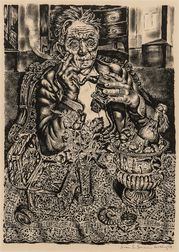 Ivan Le Lorraine Albright (American, 1897-1983)      Self Portrait at 55 East Division Street