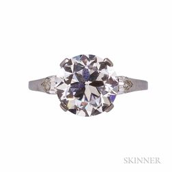 Art Deco Platinum and Diamond Solitaire, Tiffany & Co.