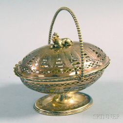 British Victorian Silver-plated Covered Basket