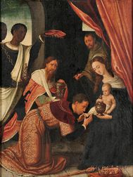 Flemish School, 16th Century Style      Adoration of the Magi