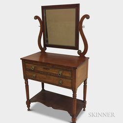 Classical-style Inlaid Mahogany Veneer Mirrored Dressing Chest