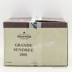 Drappier Grande Sendree Brut 2008, 6 bottles (oc)