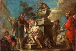 Attributed to Gasparo Diziani (Italian, 1689-1767)    Iphigenia