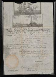 Adams, John Quincy (1767-1848) Ship's Passport, 3 June 1825.