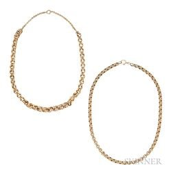 Two 14kt Gold Necklaces
