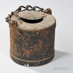 Civil War Artillery Tar Bucket