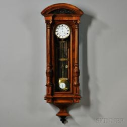 Two-week-duration Vienna Regulator Wall Clock