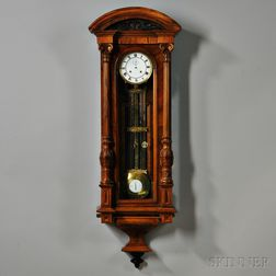 Two-week-duration Vienna Regulator Wall Clock