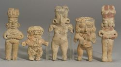 "Five Pre-Columbian Pottery ""Pretty Ladies,"""