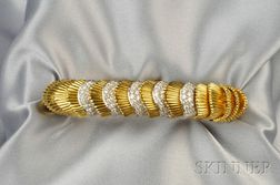 18kt Gold and Diamond Bracelet