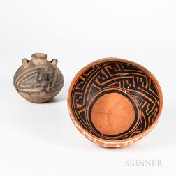 Two Pre-Columbian Pottery Bowls