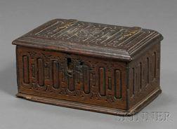 Connecticut Carved White Oak Box