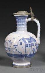 Tin-glazed Redware Ewer