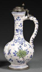 Tin-glazed Pottery Ewer