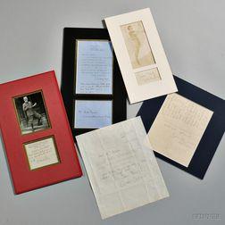 British Authors, Five Signed Pieces.