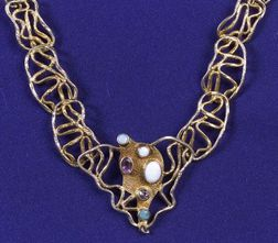 Silver Gilt and Gem-set Necklace