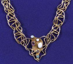 Silver Gilt and Gem-set Necklace