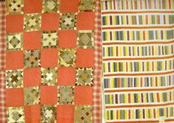 Laurel Bloomery, Tennessee Pieced Cotton Quilt and a Pieced Cotton Bar Pattern   Quilt