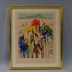 Salvador Dali (Spanish, 1904-1989)      Diamond Head