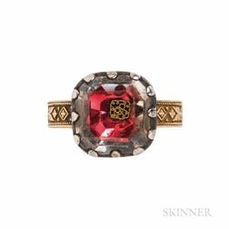 Antique Stuart Crystal Conversion Ring