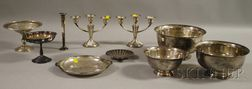 Ten Assorted American Sterling and Silver Plate Table Articles