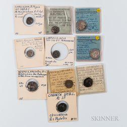 Ten Ancient Greek Coins